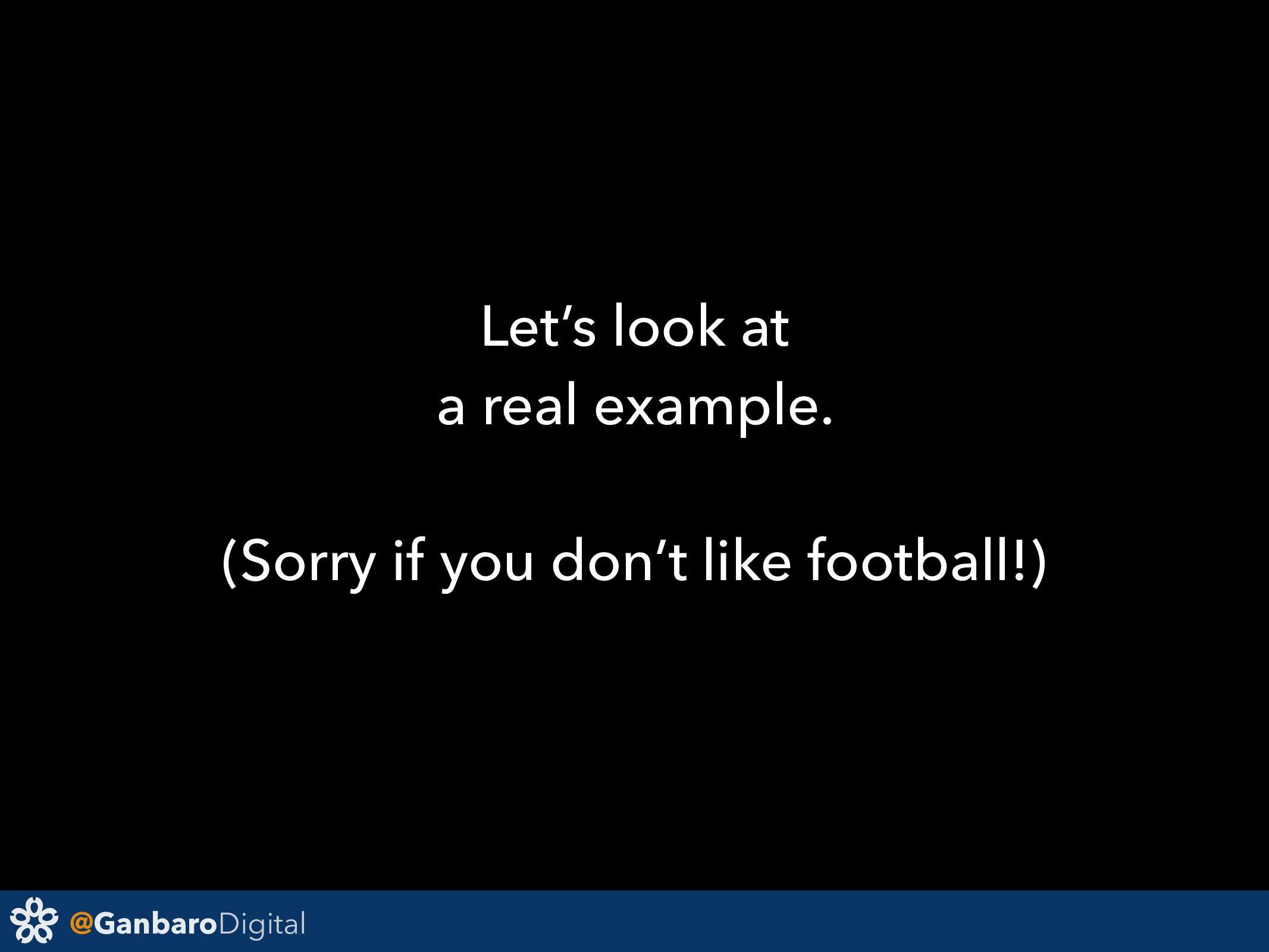 @GanbaroDigital Let's look at a real example. (...