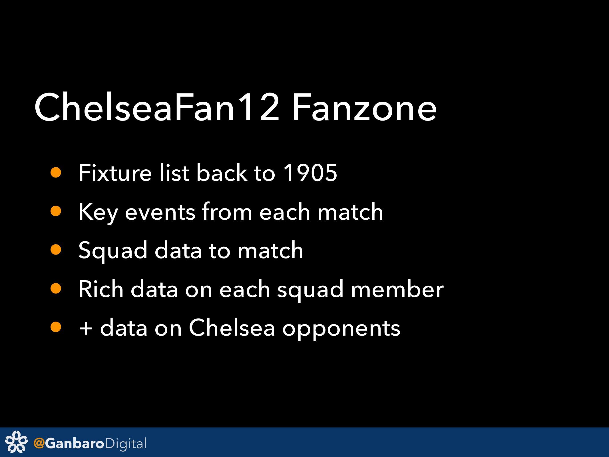 @GanbaroDigital ChelseaFan12 Fanzone • Fixture ...