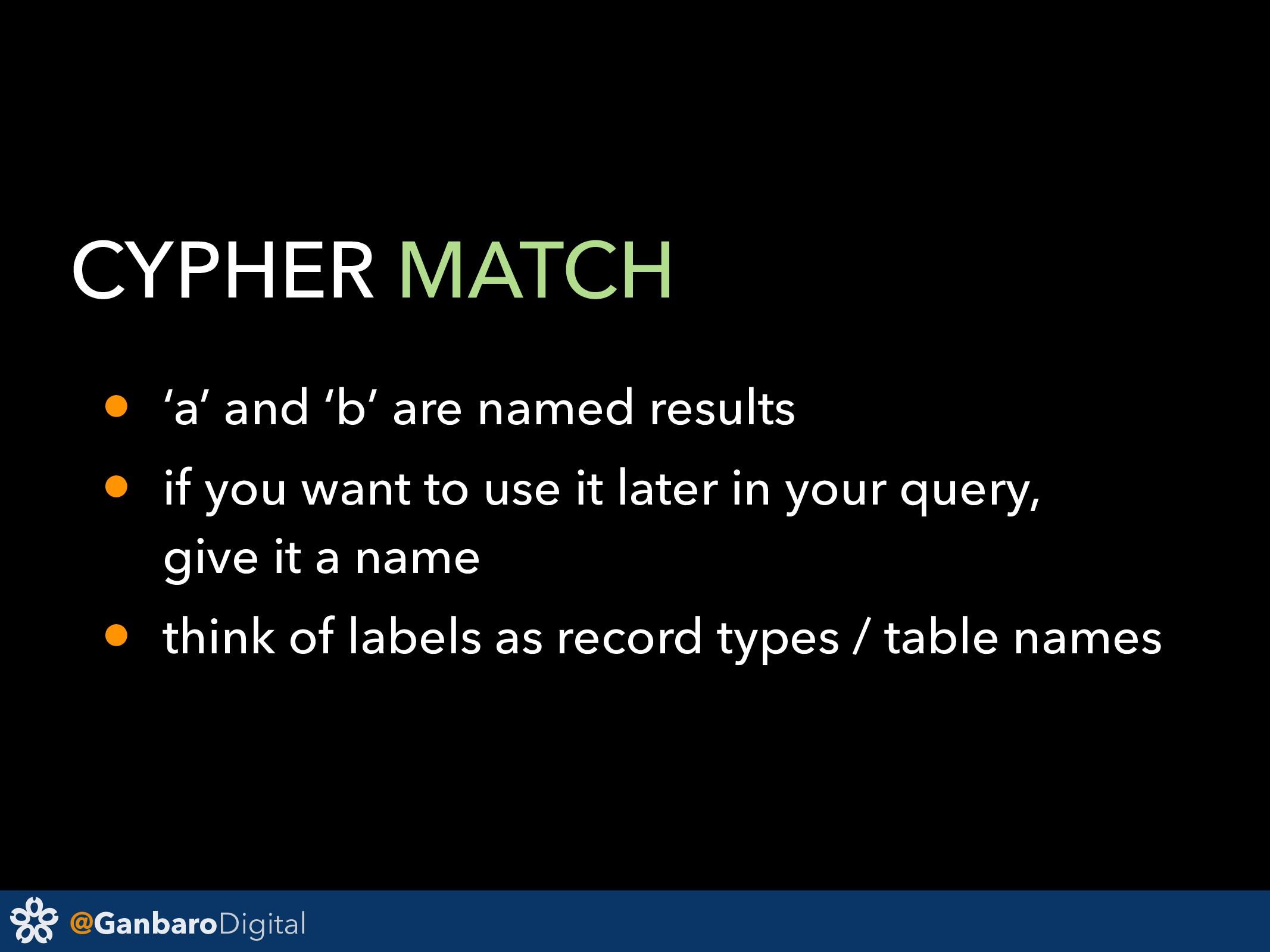 @GanbaroDigital CYPHER MATCH • 'a' and 'b' are ...