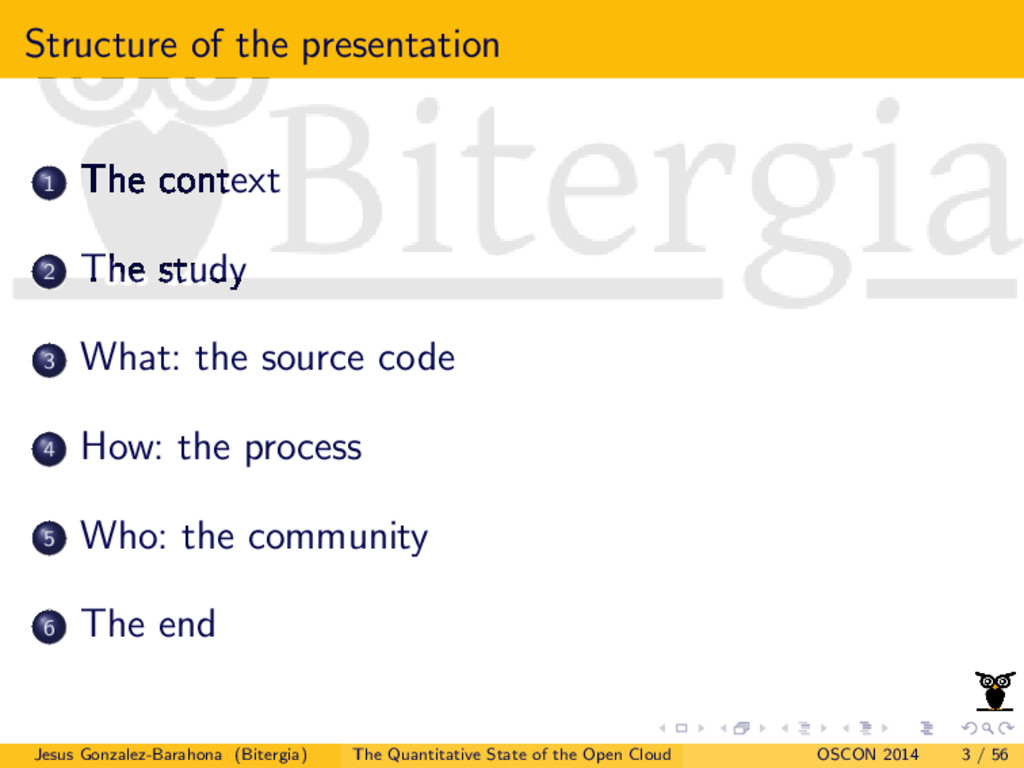 Structure of the presentation 1 The context 2 T...