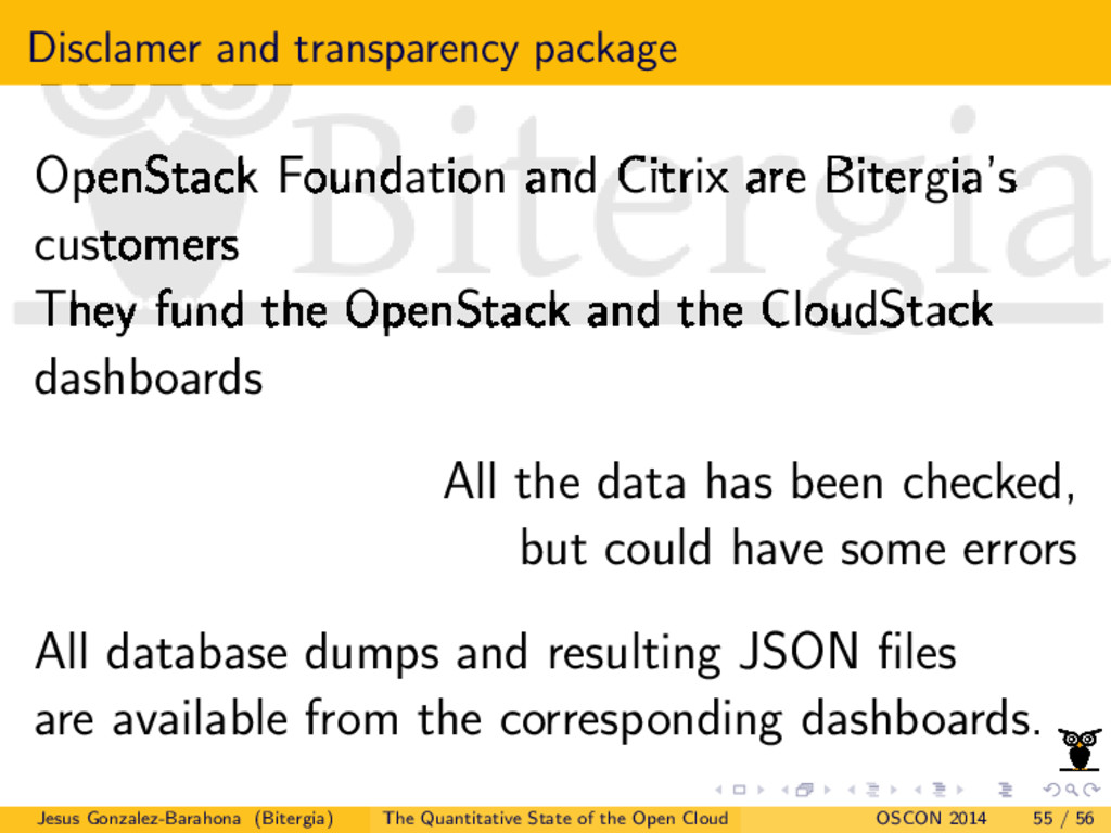 Disclamer and transparency package OpenStack Fo...
