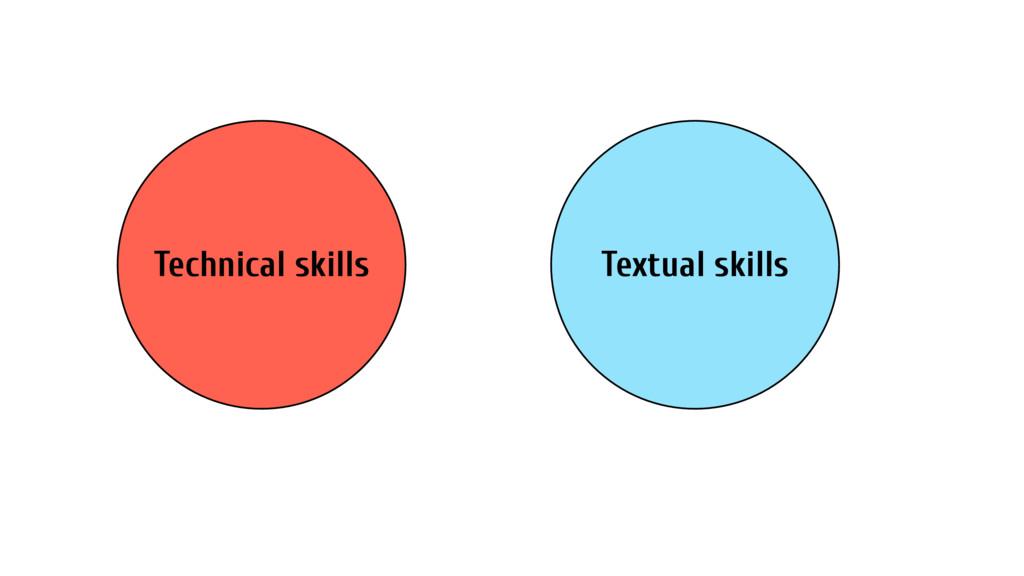 Technical skills Textual skills