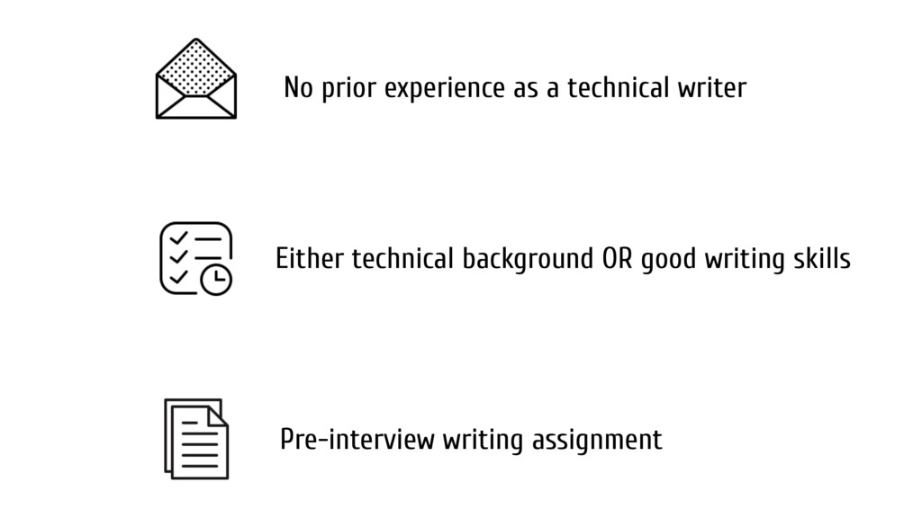 No prior experience as a technical writer Pre-i...
