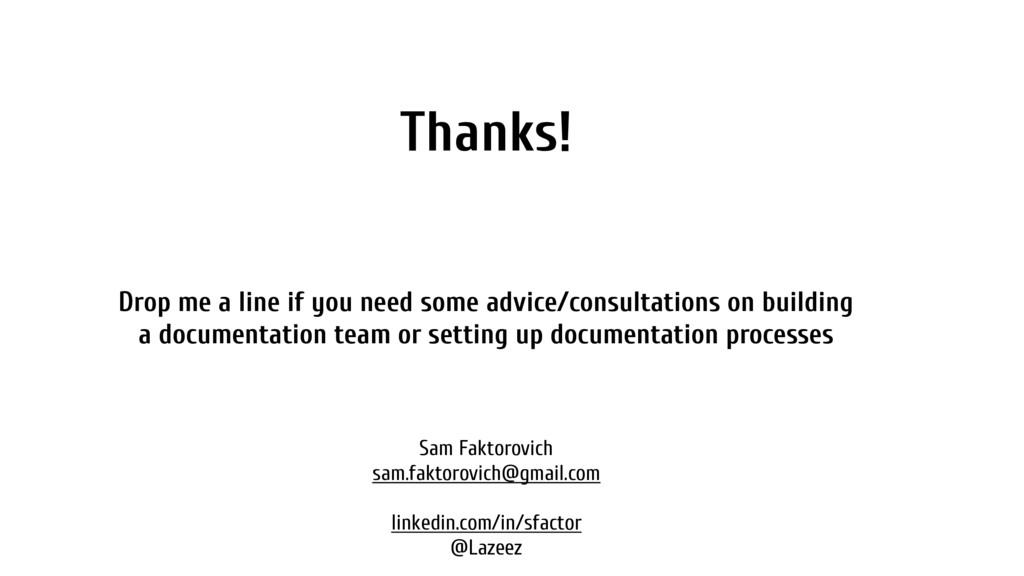 Thanks! Sam Faktorovich sam.faktorovich@gmail.c...