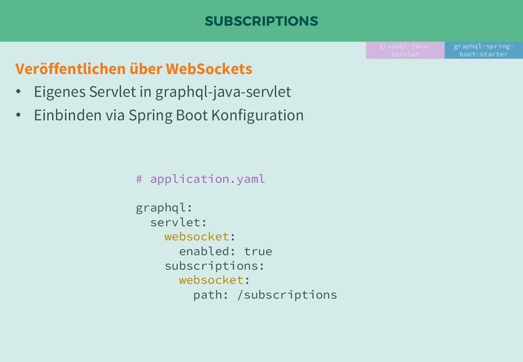 SUBSCRIPTIONS graphql-java- servlet graphql-spr...