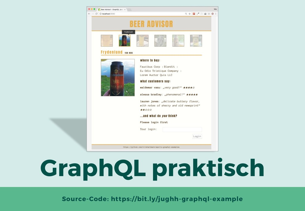 GraphQL praktisch Source-Code: https://bit.ly/j...