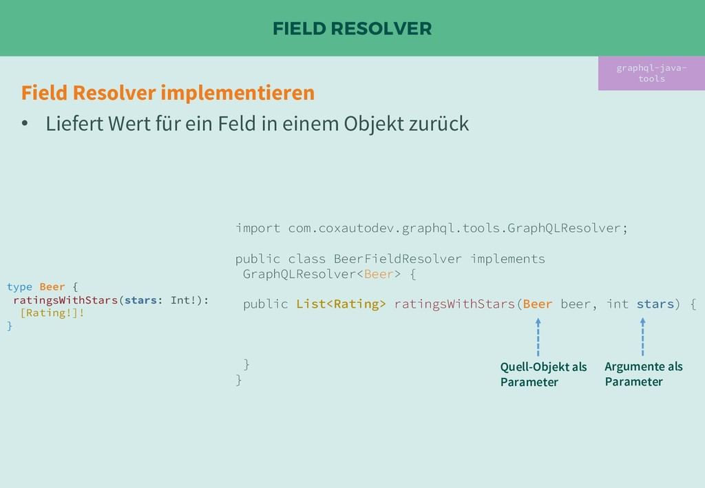 FIELD RESOLVER graphql-java- tools Field Resolv...