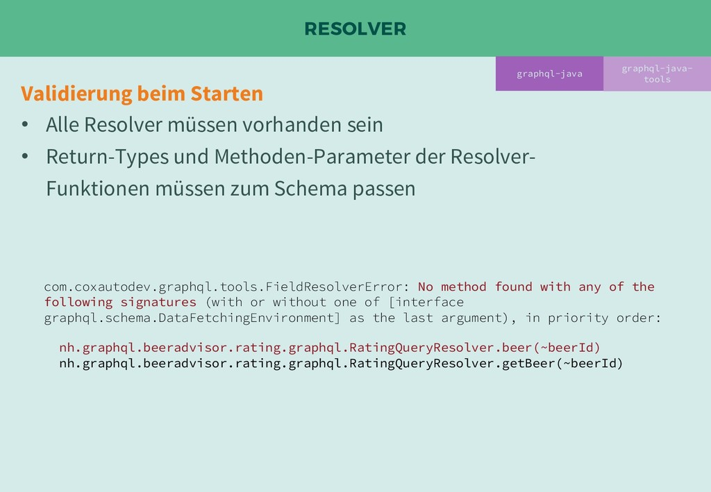 RESOLVER graphql-java- tools com.coxautodev.gra...