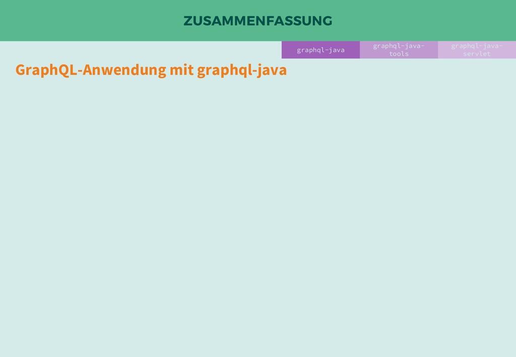 ZUSAMMENFASSUNG GraphQL-Anwendung mit graphql-j...