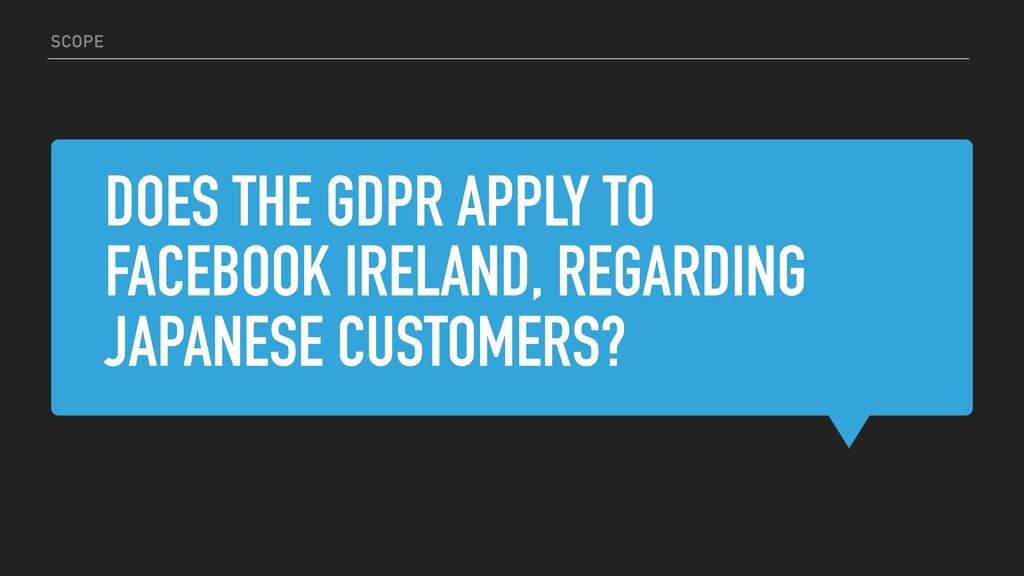 DOES THE GDPR APPLY TO FACEBOOK IRELAND, REGARD...