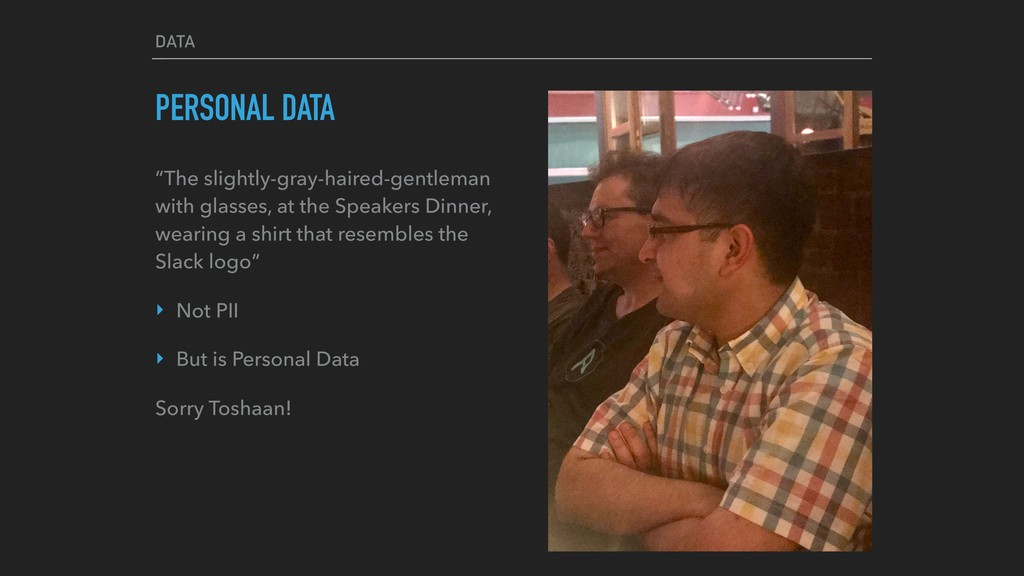 "DATA PERSONAL DATA ""The slightly-gray-haired-ge..."