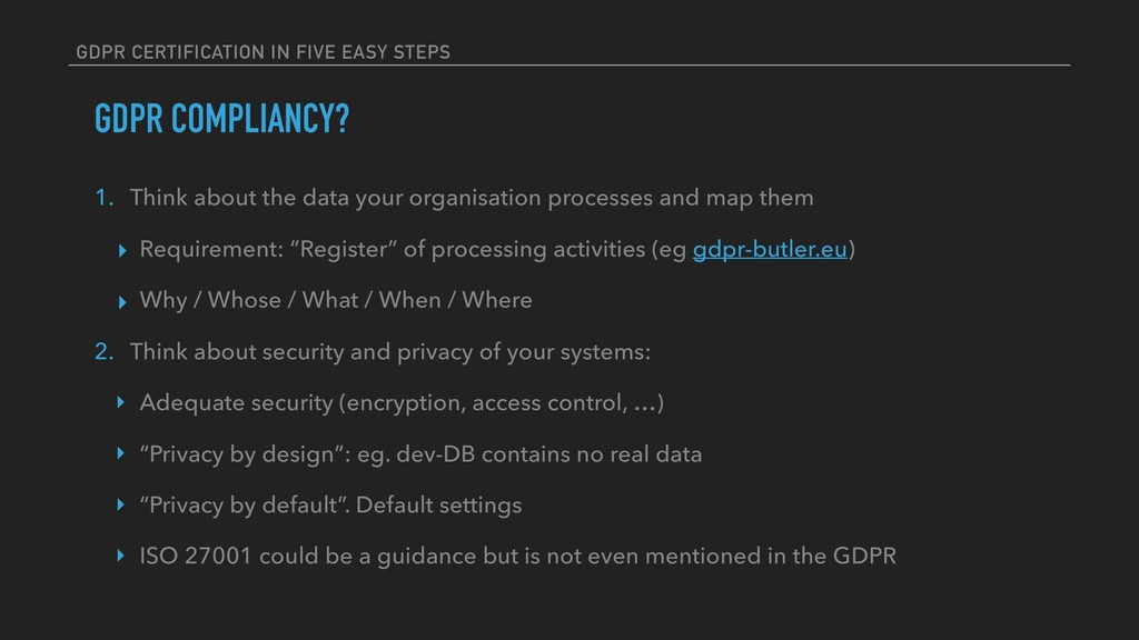 GDPR CERTIFICATION IN FIVE EASY STEPS GDPR COMP...