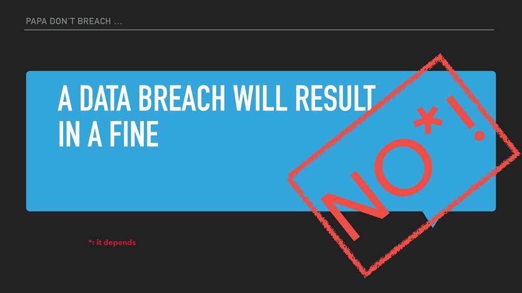 A DATA BREACH WILL RESULT IN A FINE PAPA DON'T ...