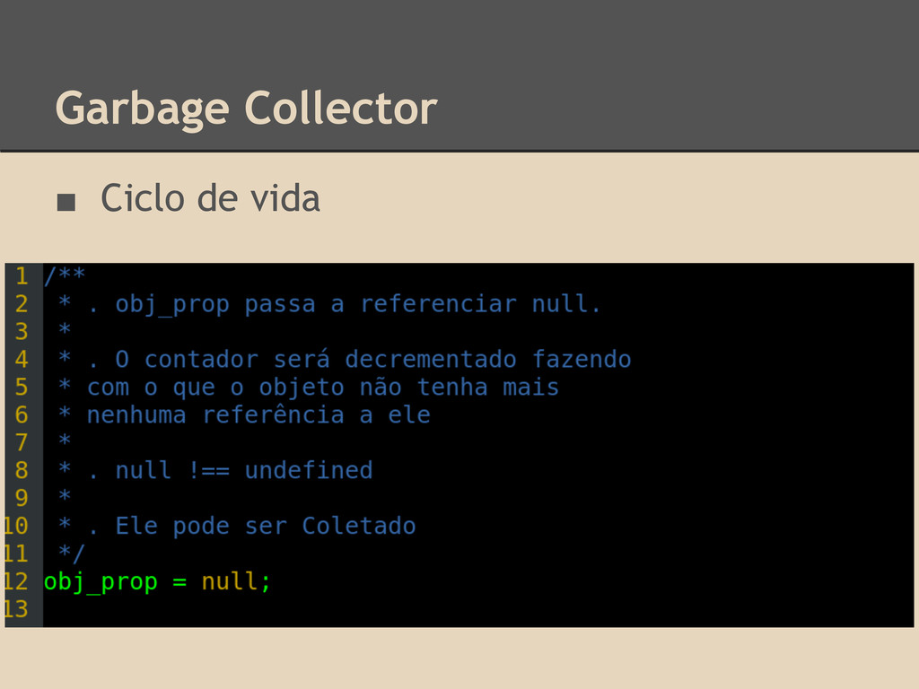 Garbage Collector ■ Ciclo de vida