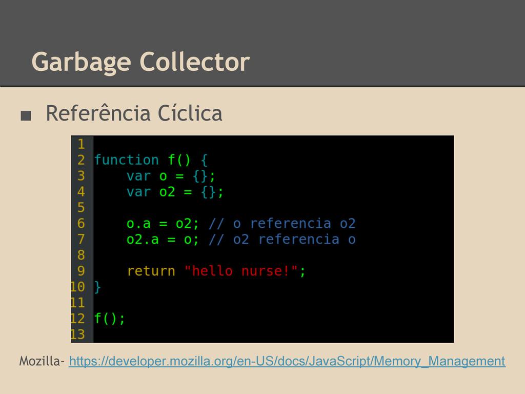 Garbage Collector ■ Referência Cíclica Mozilla-...