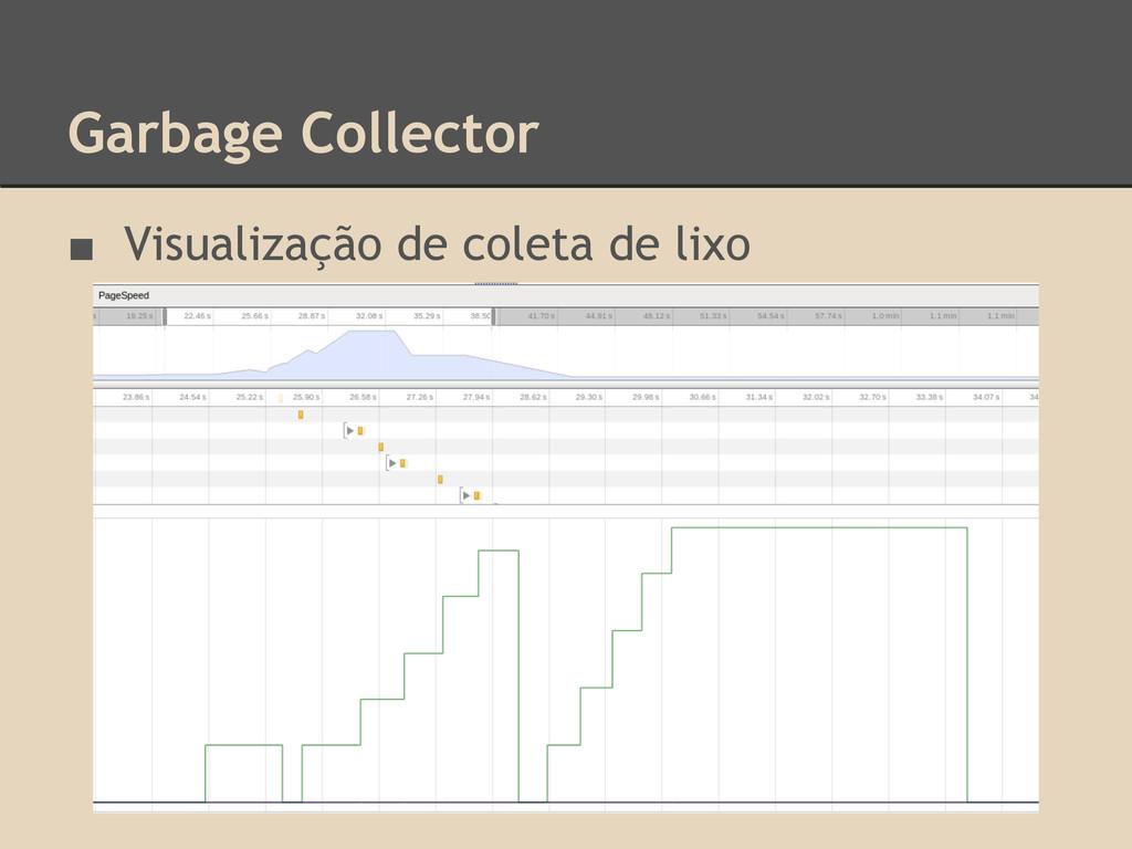 Garbage Collector ■ Visualização de coleta de l...