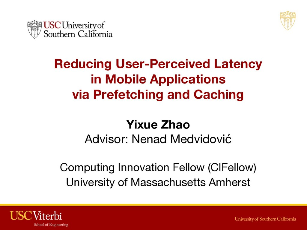 Reducing User-Perceived Latency in Mobile Appli...