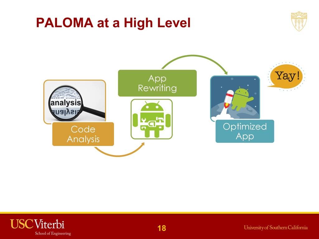 PALOMA at a High Level Code Analysis App Rewrit...