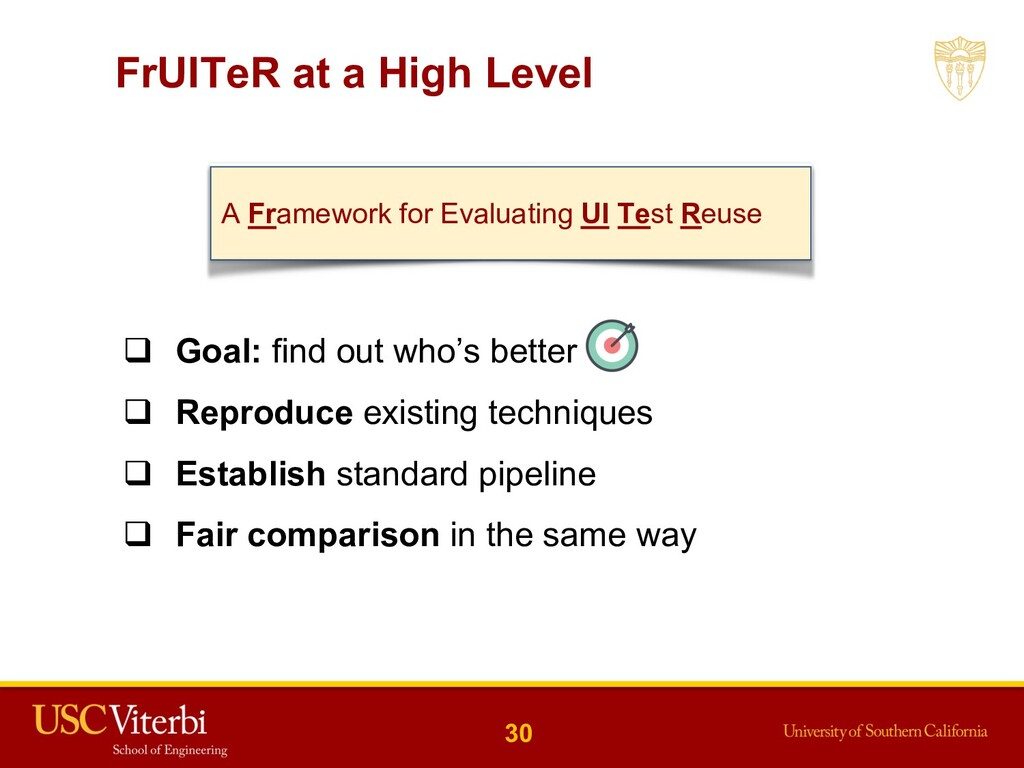 FrUITeR at a High Level q Goal: find out who's ...