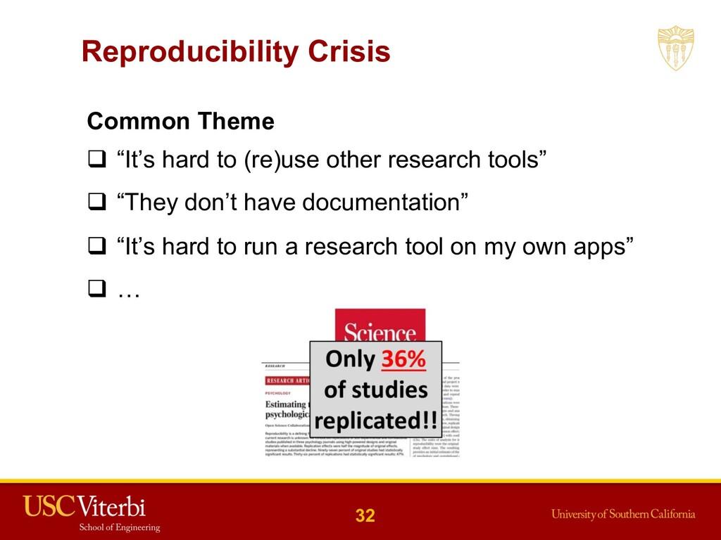 """Reproducibility Crisis 32 Common Theme q """"It's ..."""
