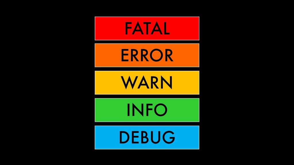 FATAL ERROR WARN INFO DEBUG