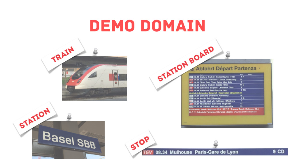 Demo Domain Station board stop station train