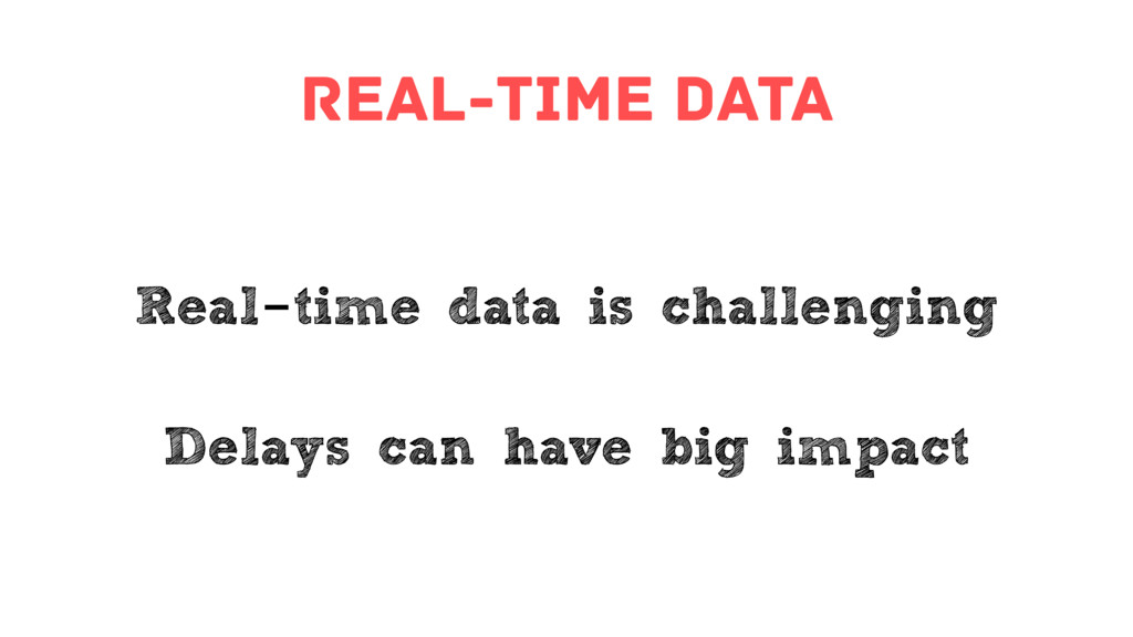 real-time data Real-time data is challenging De...