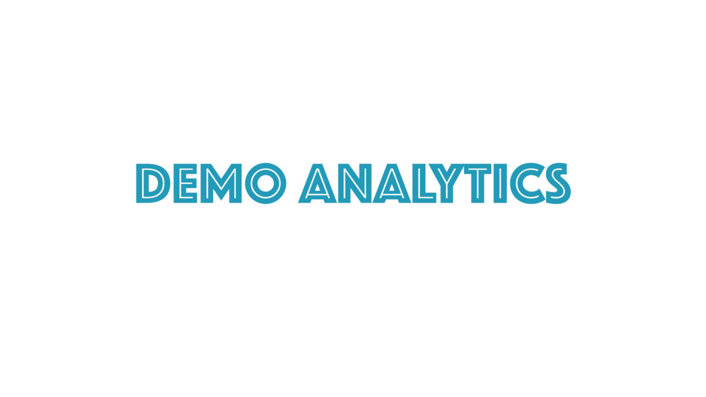Demo ANalytics