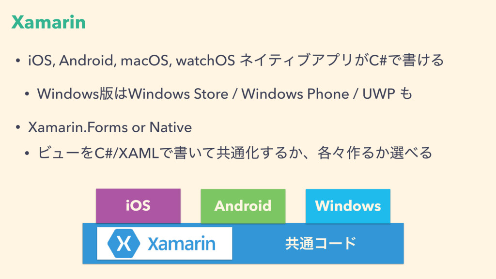 Xamarin • iOS, Android, macOS, watchOS ωΠςΟϒΞϓϦ...