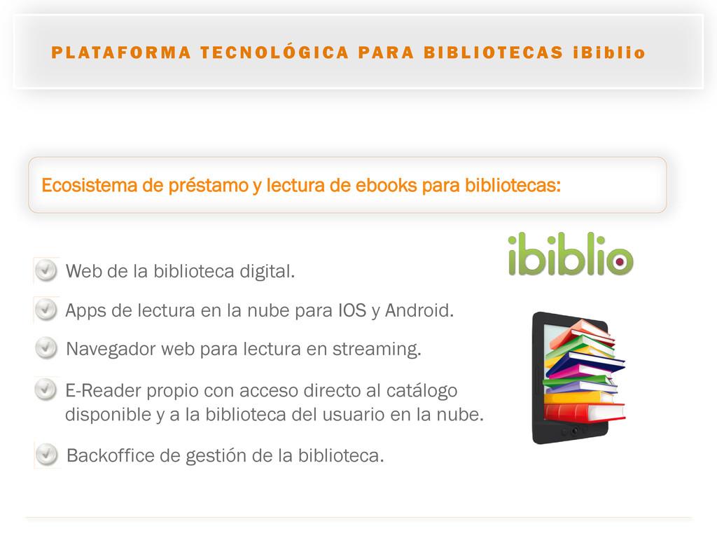Ecosistema de préstamo y lectura de ebooks para...