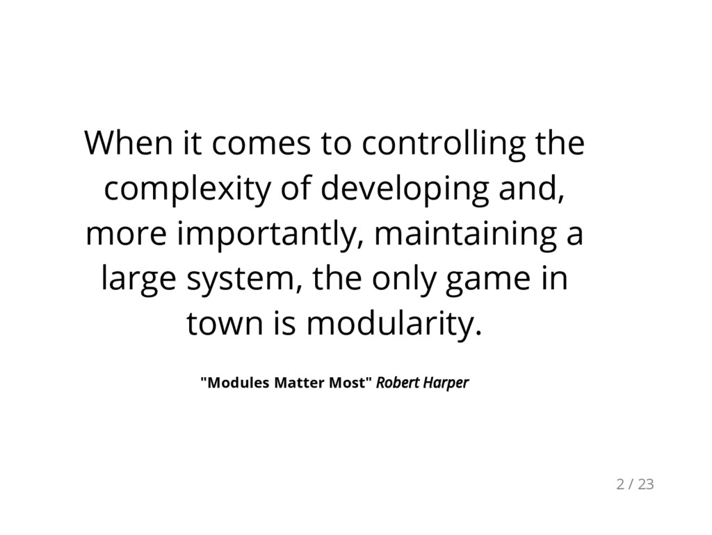 When it comes to controlling the complexity of ...
