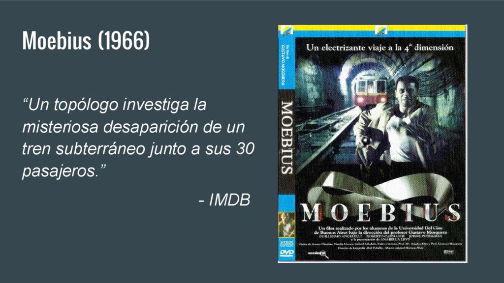 """Moebius (1966) """"Un topólogo investiga la mister..."""