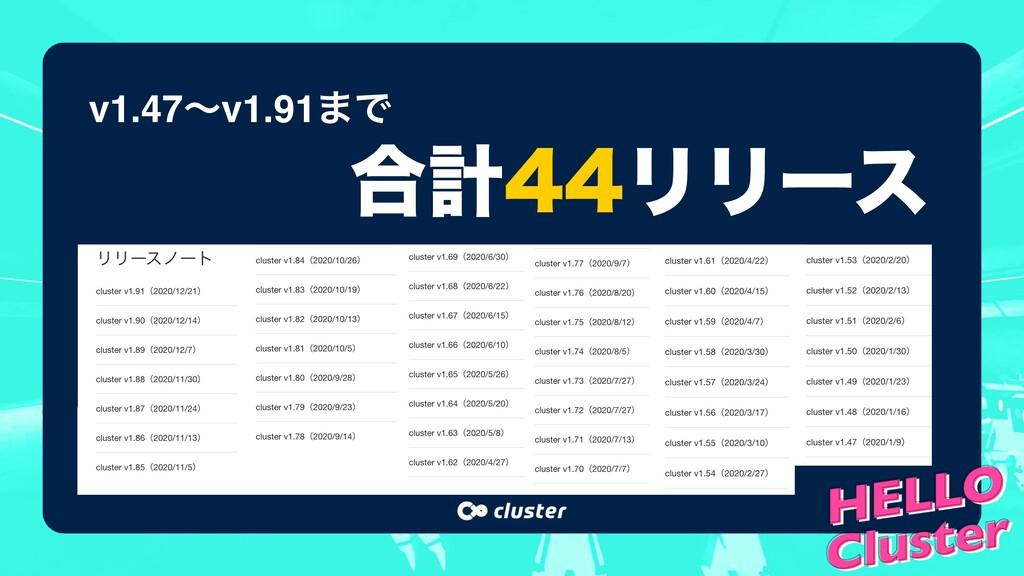 v1.47ʙv1.91·Ͱ ߹ܭϦϦʔε
