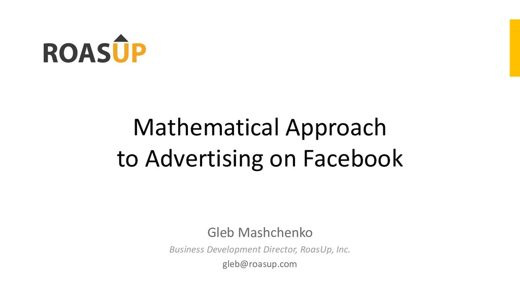 Mathematical Approach to Advertising on Faceboo...
