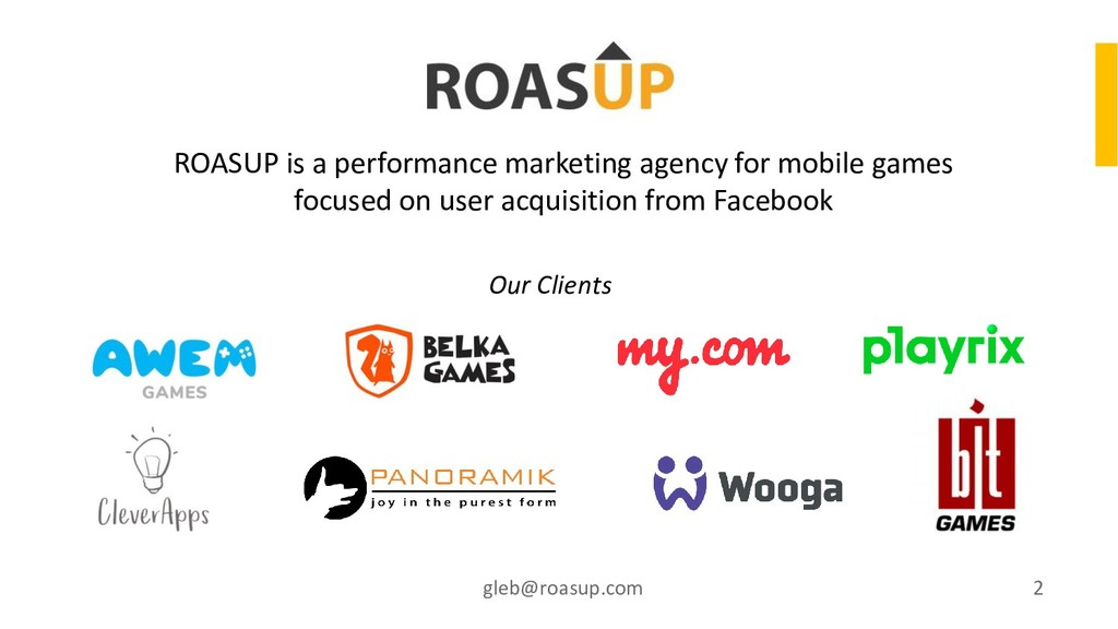 ROASUP is a performance marketing agency for mo...