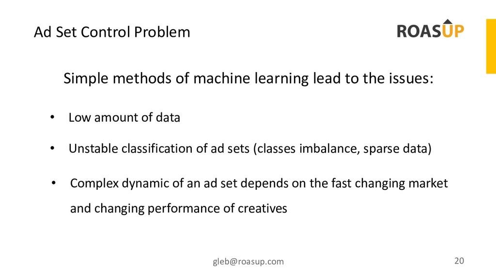 Ad Set Control Problem gleb@roasup.com 20 Simpl...