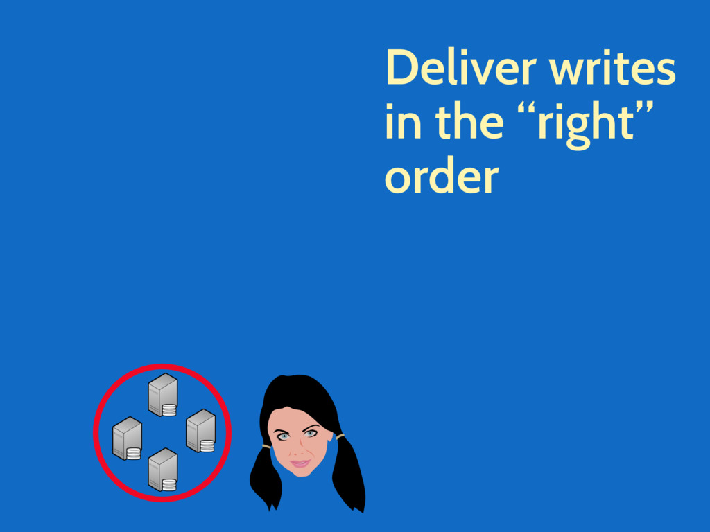 "Deliver writes in the ""right"" order"