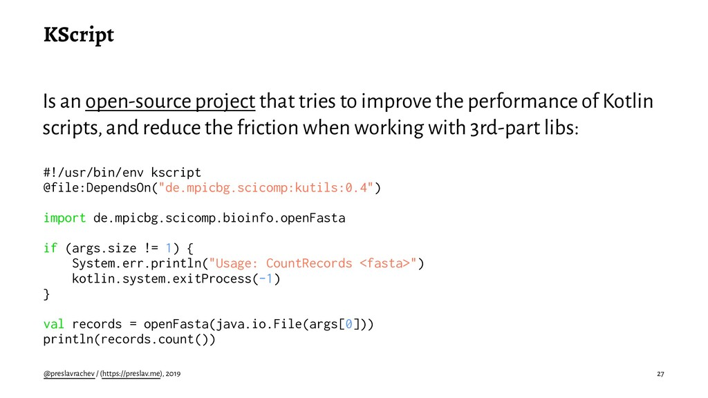KScript Is an open-source project that tries to...