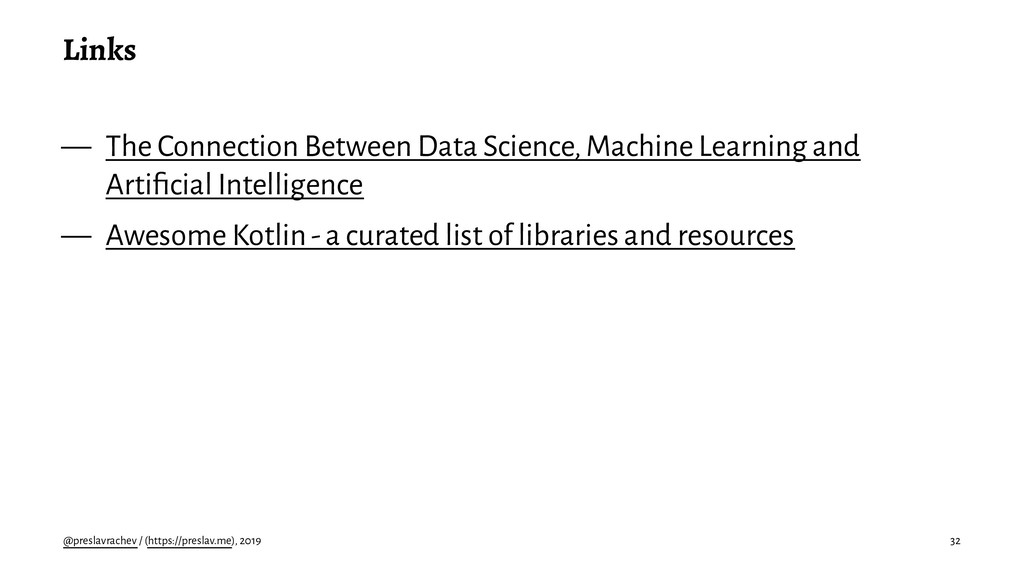 Links — The Connection Between Data Science, Ma...