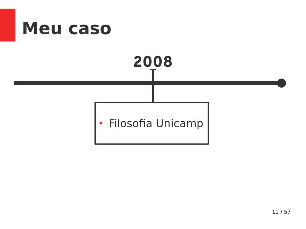 11 / 57 Meu caso 2008 ● Filosofa nicamp