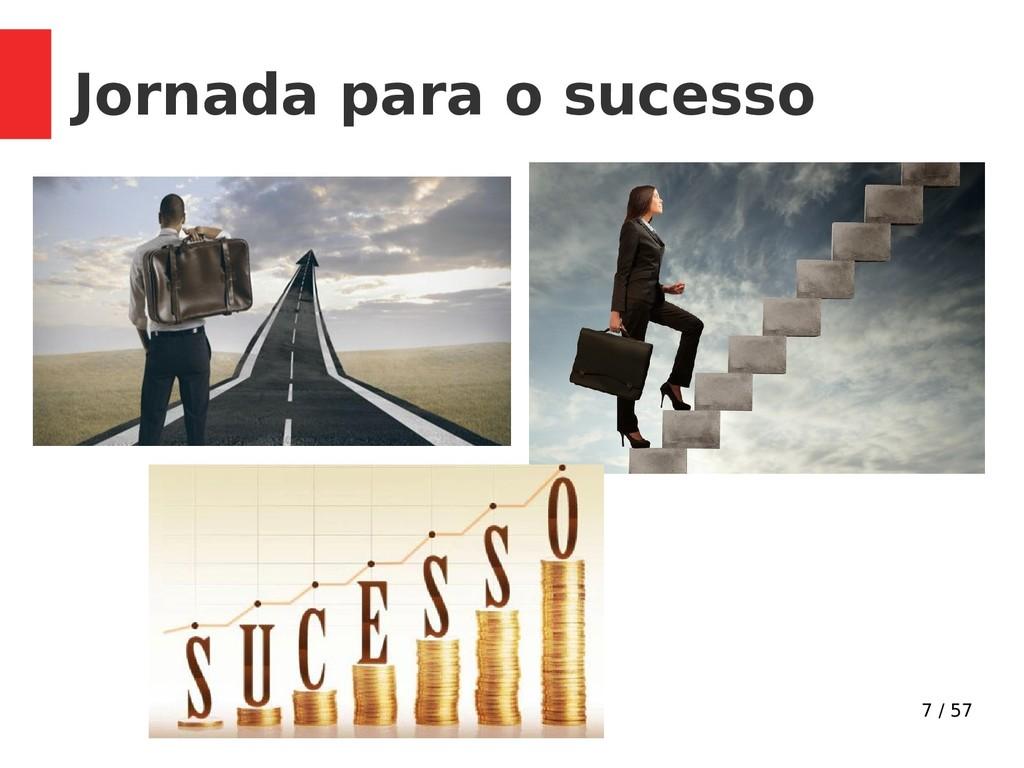 7 / 57 Jornada para o sucesso