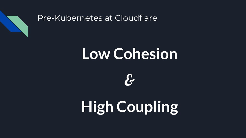 Pre-Kubernetes at Cloudflare Low Cohesion & Hig...