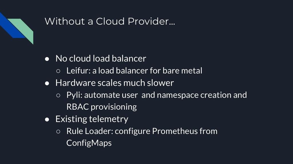 ● No cloud load balancer ○ Leifur: a load balan...