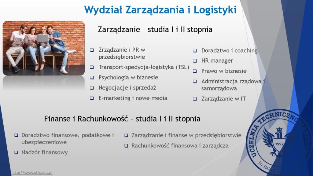 Zarządzanie – studia I i II stopnia  Zrządzani...