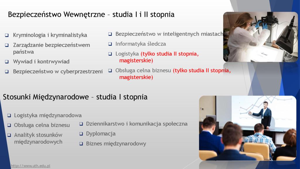 Bezpieczeństwo Wewnętrzne – studia I i II stopn...