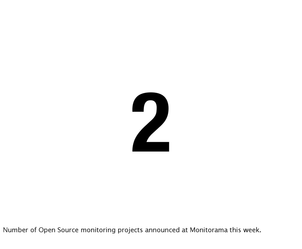 2 Number of Open Source monitoring projects ann...