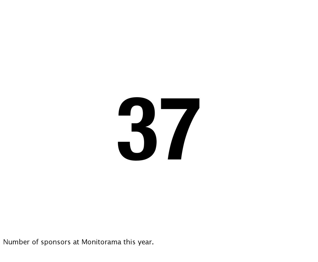 37 Number of sponsors at Monitorama this year.
