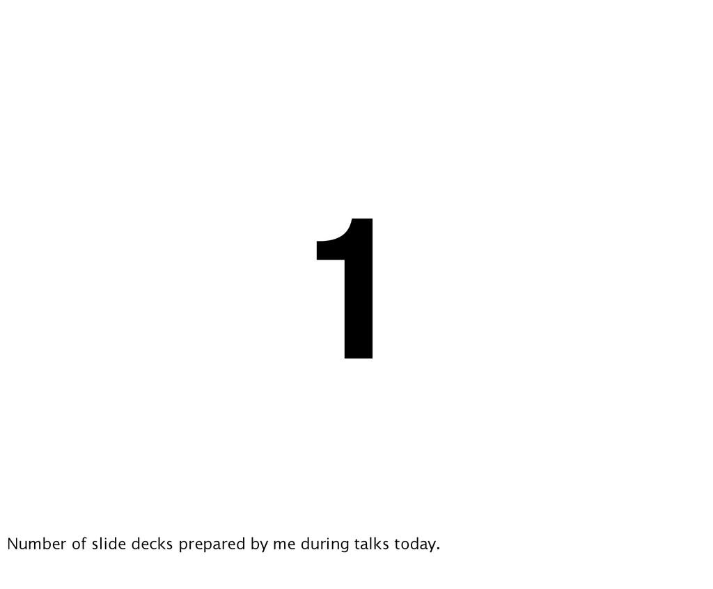 1 Number of slide decks prepared by me during t...
