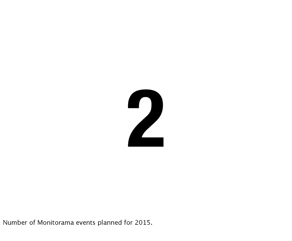 2 Number of Monitorama events planned for 2015.