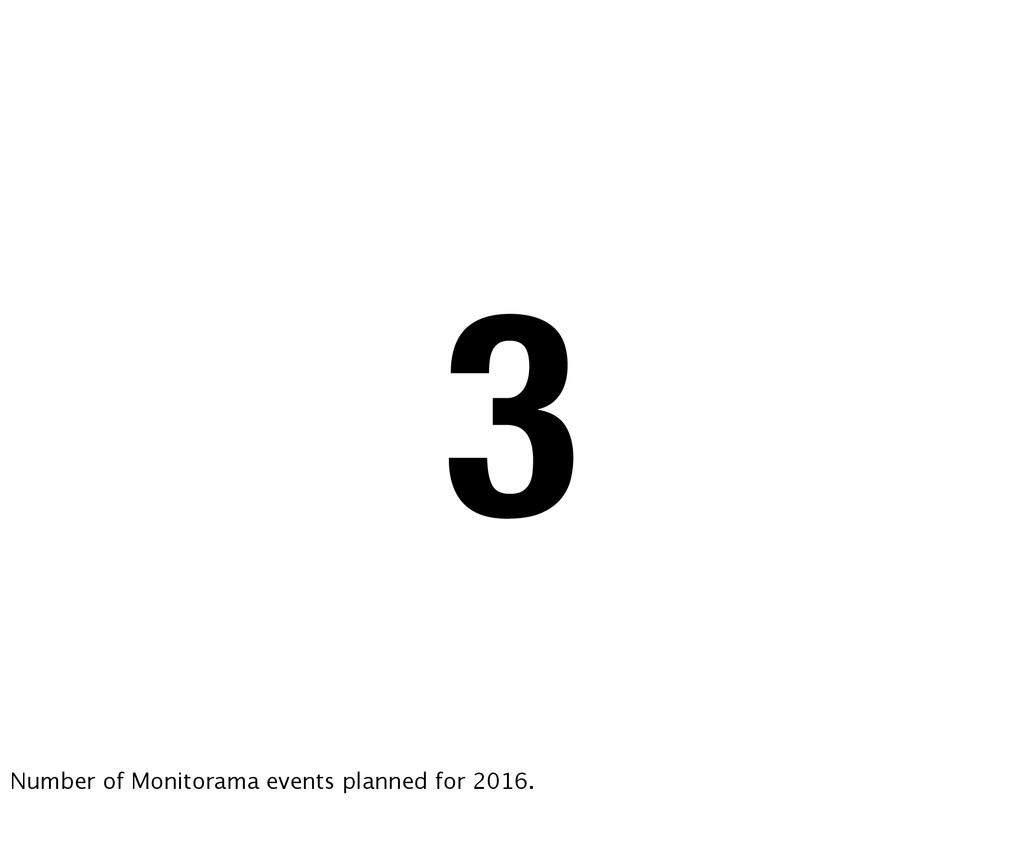 3 Number of Monitorama events planned for 2016.